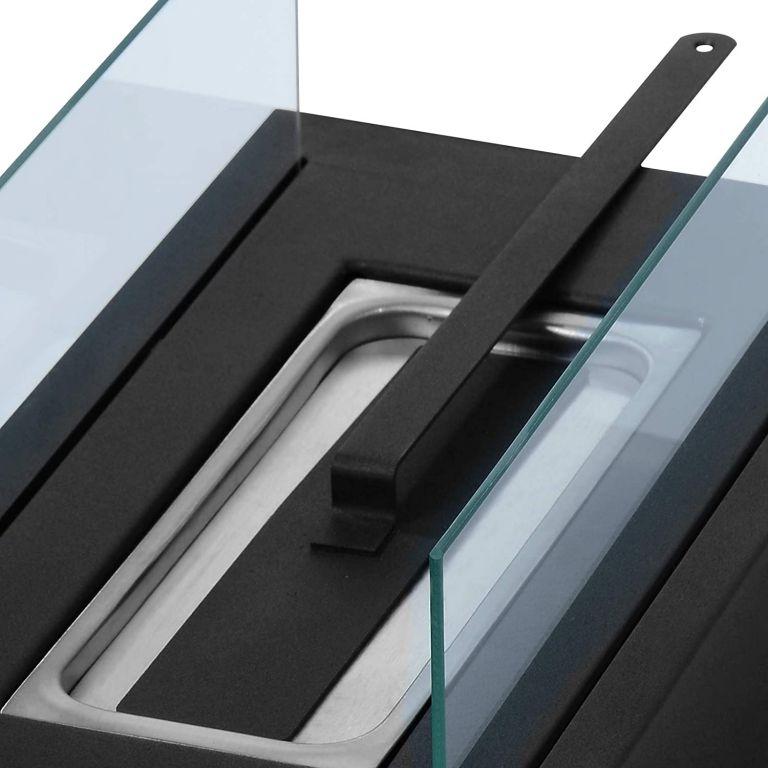 Stolní krb nerezový, černý, 350 x 182 x 146 mm