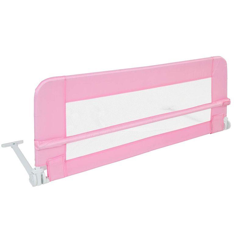 Dětská zábrana na postel, 102 cm, růžová