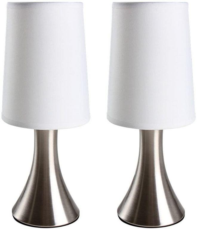 Sada 2 kusů stolních lamp s dotykovou funkcí stmívání