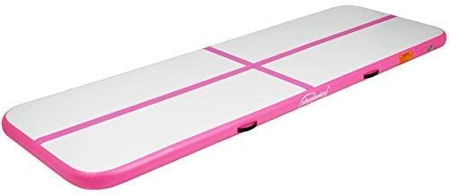 Nafukovací gymnastická žíněnka, 300 x 100 x 10 cm, růžová