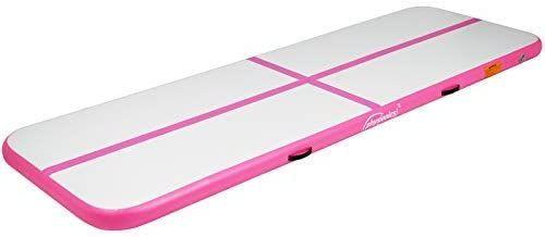 Airtrack nafukovací gymnastická žíněnka 300x100x10 cm růžová