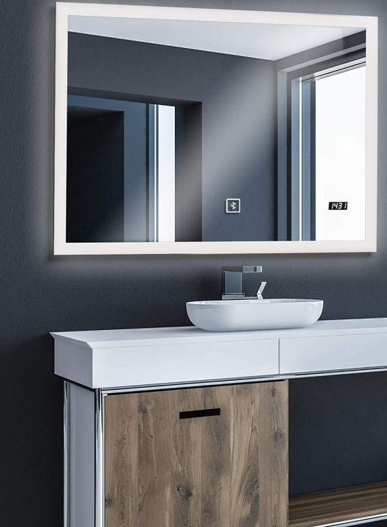 Aquamarin Koupelnové zrcadlo s LED osvětlením, 80 x 60 cm