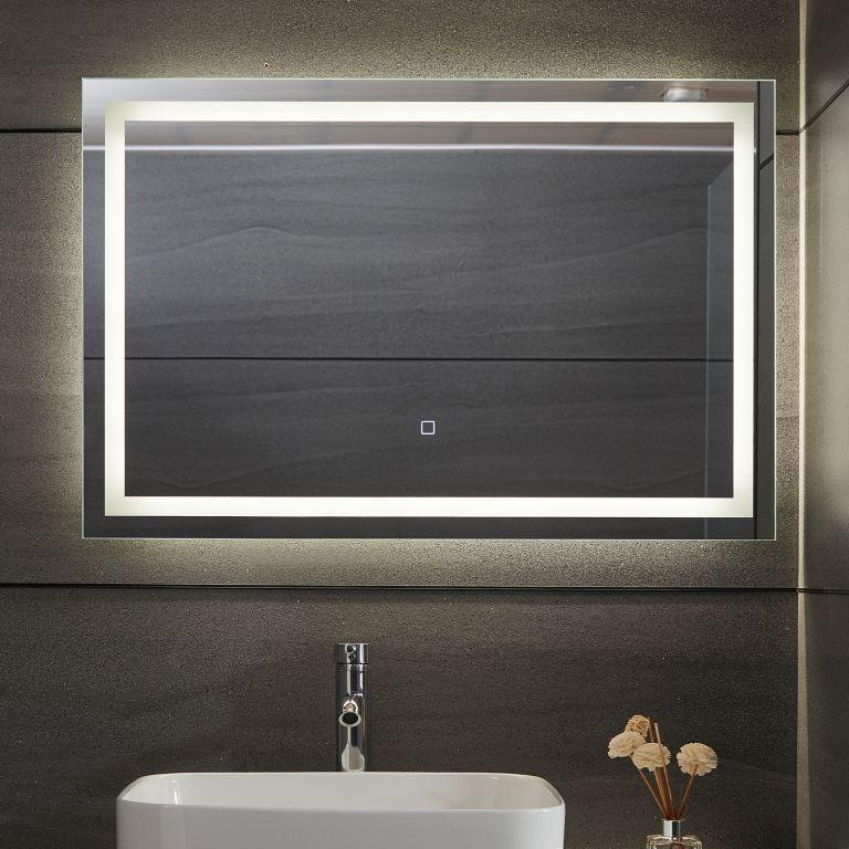 Aquamarin Koupelnové zrcadlo s LED osvětlením, 90 x 60 cm