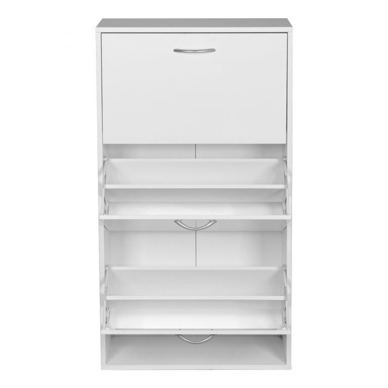 Miadomodo Výklopný botník, bílý, 59 x 105 x 22 cm