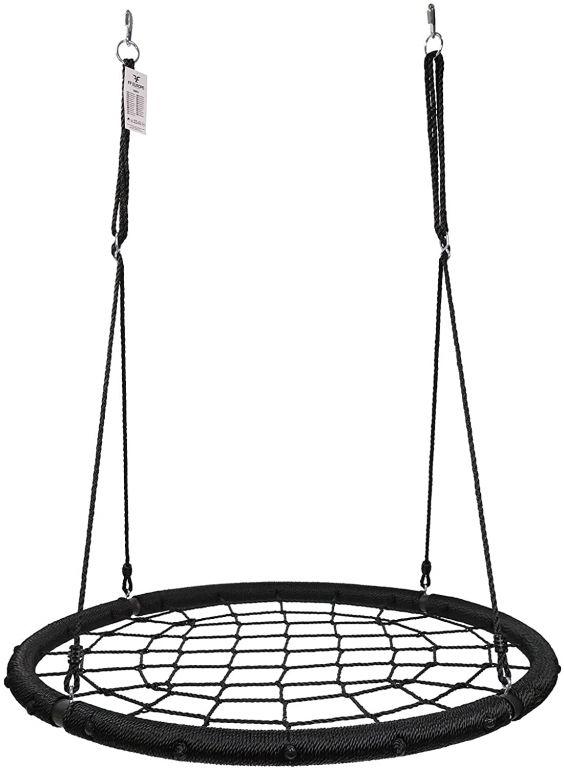 Physionics Houpačka ve tvaru kruhu, síť, 120 cm, černá