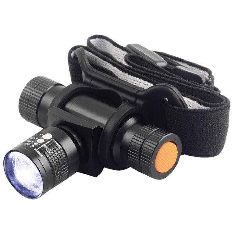 Svítilna čelová TESLA Zoom 140L, celokovová, LED 3W Cree