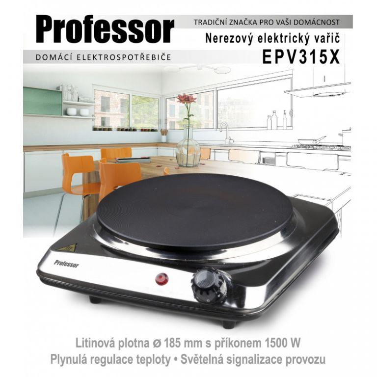Vařič Professor EPV315X, 1 plotna, nerez
