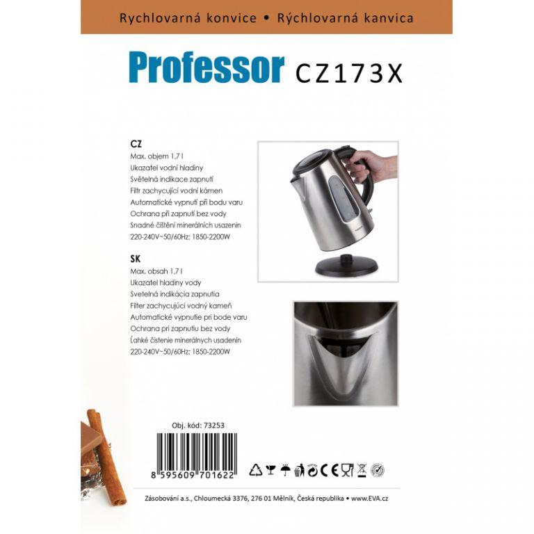 Konvice Professor 1,7 L matný nerez