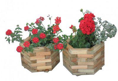 Zahradní dekorativní 6-ti úhelný květináč velký
