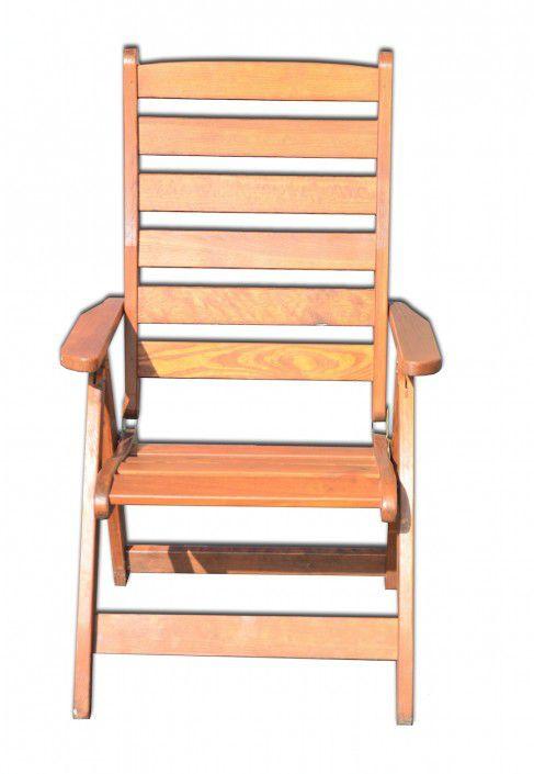 Polohovatelné dřevěné křeslo RUSTIKA FSC