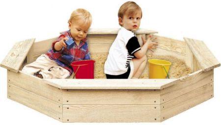 Dřevěné pískoviště pro děti 8hranné FSC