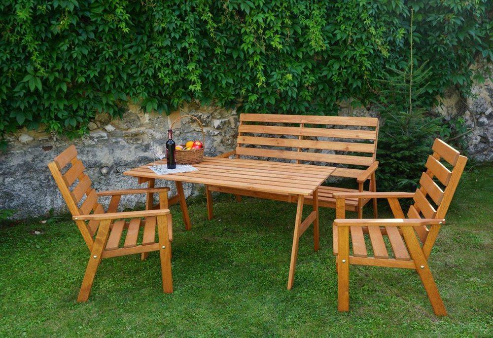 Zahradní dřevěná souprava SYLVA