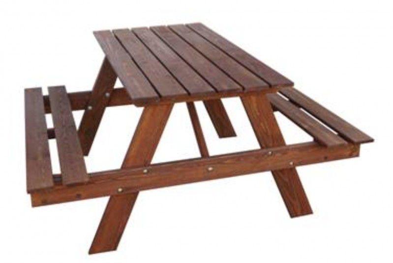 Zahradní dřevěný set PIKNIK 120 cm mořený