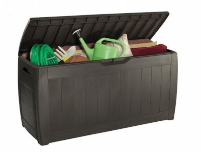 Plastový zahradní box HOLLYWOOD hnědý - 270L