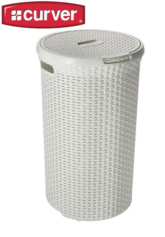 Kulatý koš na prádlo 48 L krémová CURVER