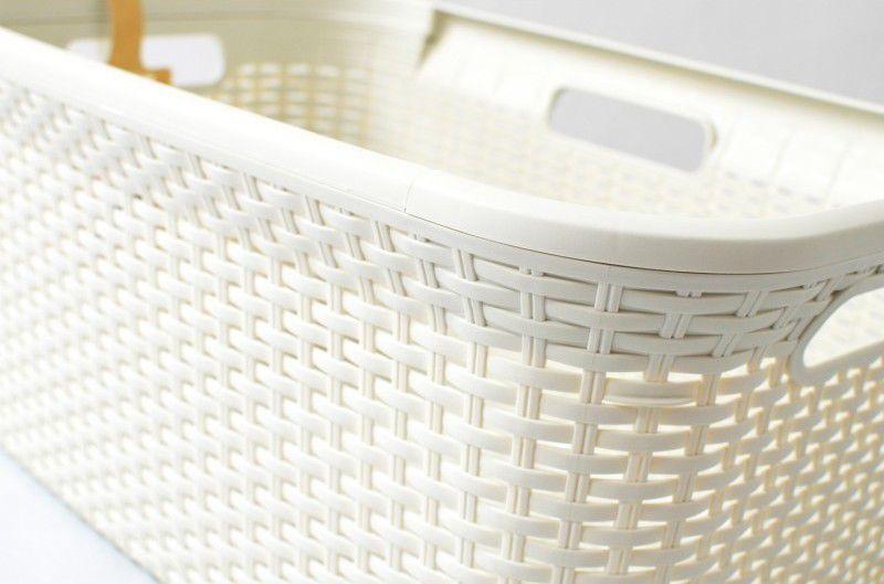 Koš na prádlo RATTAN STYLE 45 l krémový CURVER