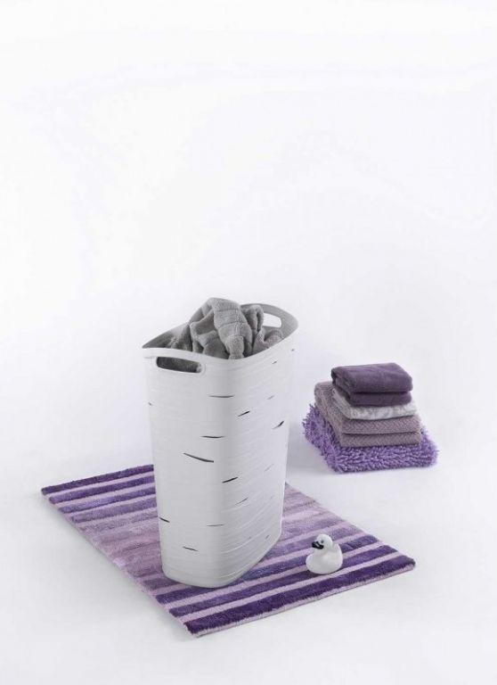 Koš na prádlo RIBBON 49 L bílá CURVER