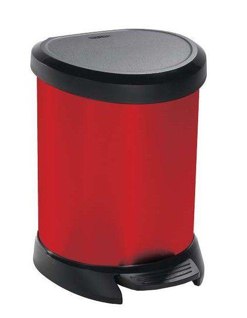 CURVER DECOBIN 30505 Odpadkový koš pedálový 5l červený