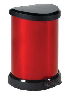 Odpadkový koš pedálový DECOBIN 20l červená CURVER