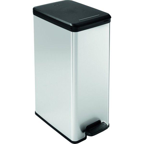 Odpadkový koš SLIM BIN 40 l - stříbrný CURVER