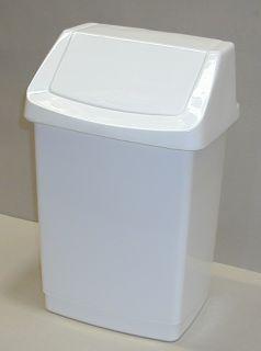 CURVER CLICK Koš odpadkový 15l - bílý