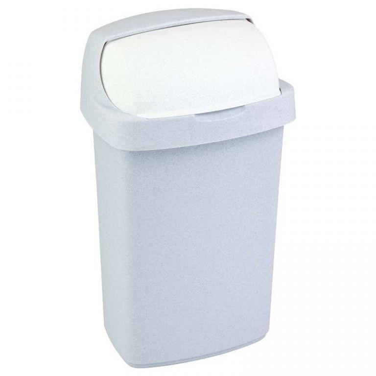 Koš na odpadky ROLL TOP 10l – sv. šedý CURVER