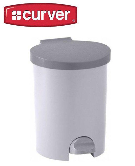 Koš odpadkový KULATÝ pedálový 15l - luna CURVER