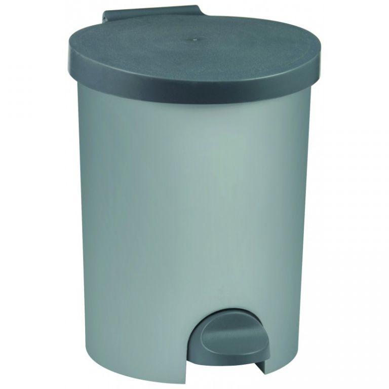 Koš odpadkový KULATÝ 15l - stříbrný CURVER