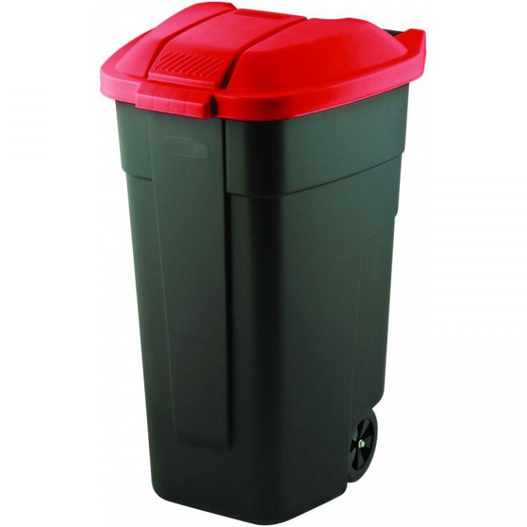 POPELNICE COLOR 110 l - černá/červená CURVER