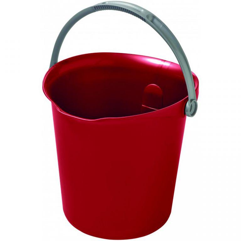 Uklízecí kbelík 9l – červený CURVER