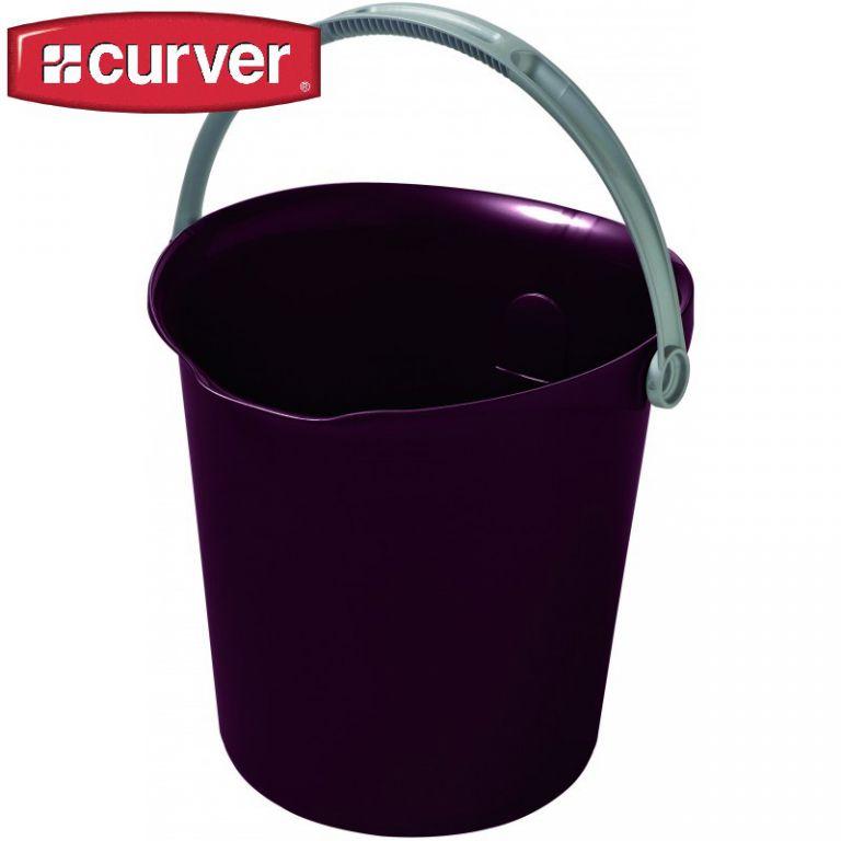 Úklidový kbelík 9l - tm. modrofialová CURVER
