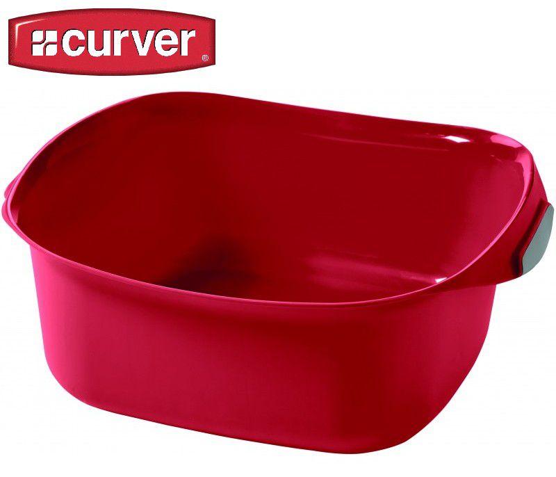 Umyvadlo obdélník RECT 8l - červené CURVER