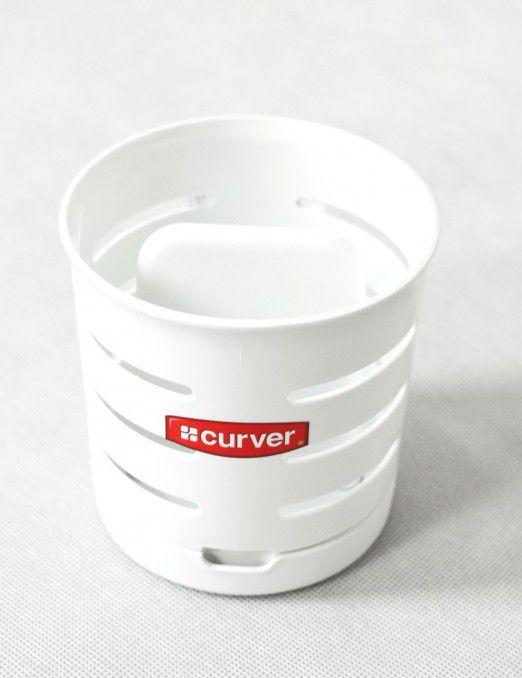 Odkapávač na příbory KULATÝ - bílý CURVER