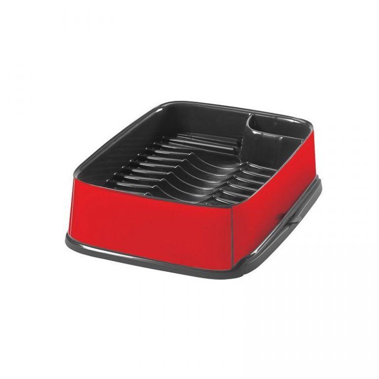 Odkapávač nádobí STYLE vysunovací - červený CURVER
