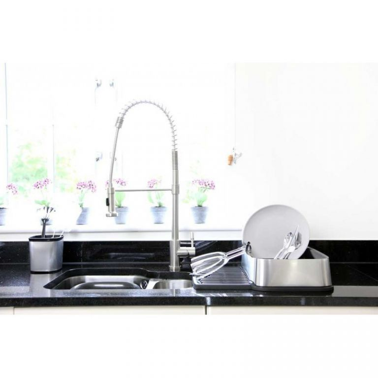 Odkapávač nádobí STYLE SQR vysunovací - stříbrný CURVER