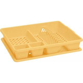Odkapávač nádobí s podnosem BIG - žlutý CURVER