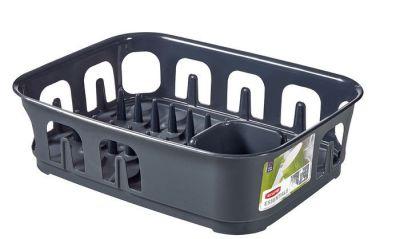 Odkapávač nádobí ESSENTIALS obdélník - tm.šedý CURVER