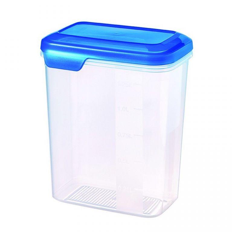 Plastová dóza FLEXI CHEF 1.6L - modré víko CURVER