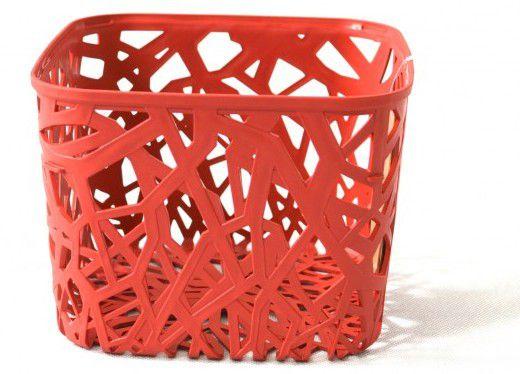 Plastový košík NEO SQUARE - červený CURVER