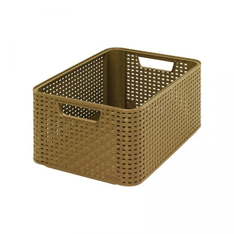 úložný STYLE BOX - M- kávový CURVER