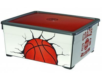Úložný box s víkem - 18,5L - BASKET CURVER