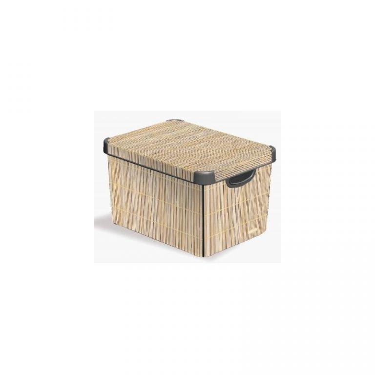 Box DECO - S - Bamboo CURVER