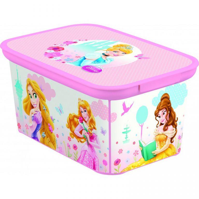 CURVER Dětský úložný box DECO S PRINCESS OEM R32458