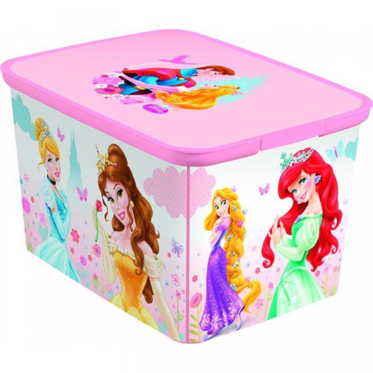 Úložný box dětský DECO - L - PRINCESS CURVER