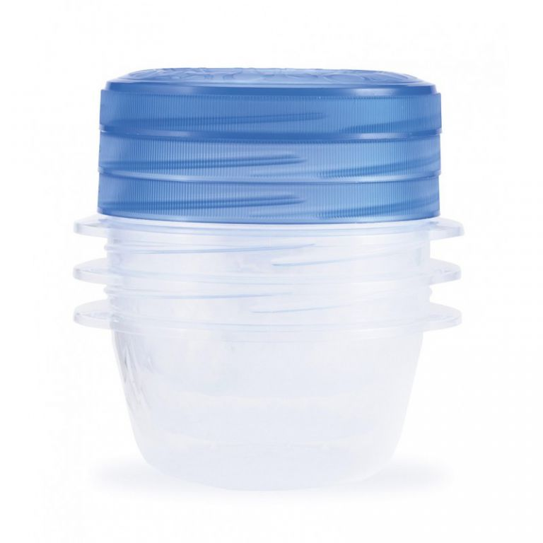 CURVER TAKE AWAY TWIST Set potravinových dóz 3x0,5L - modrý