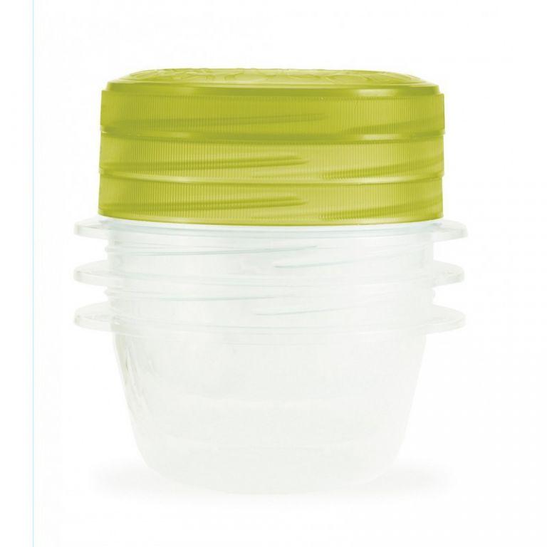 Set 3 plastových dóz TAKE AWAY TWIST 0,5l - zelený CURVER