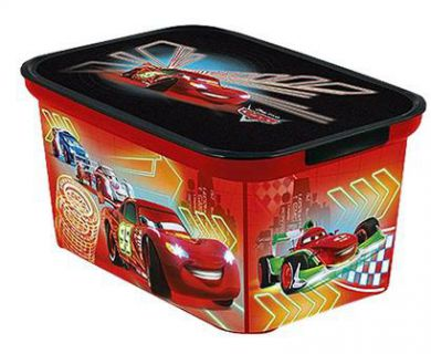 Plastový dětský úložný box - S - CARS CURVER