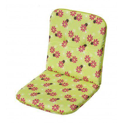 sun garden SCALA 30330-220 Polstrování na nízké křeslo - zelená s květy