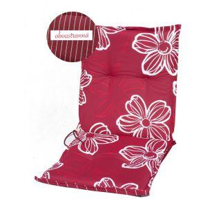 Polstrování na nízké křeslo NAXOS NIEDRIG - květy