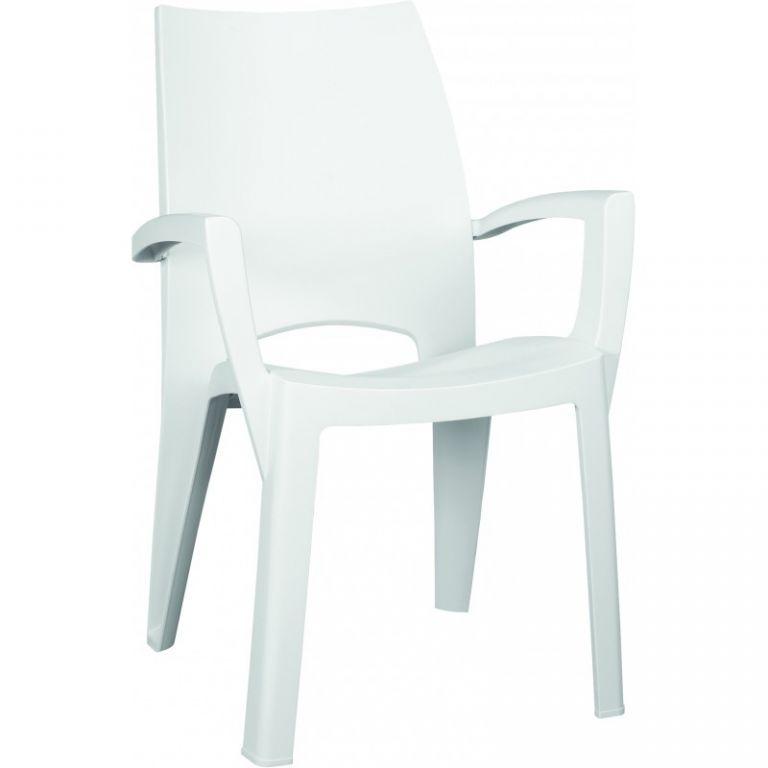 Plastové křeslo SPRING - bílé